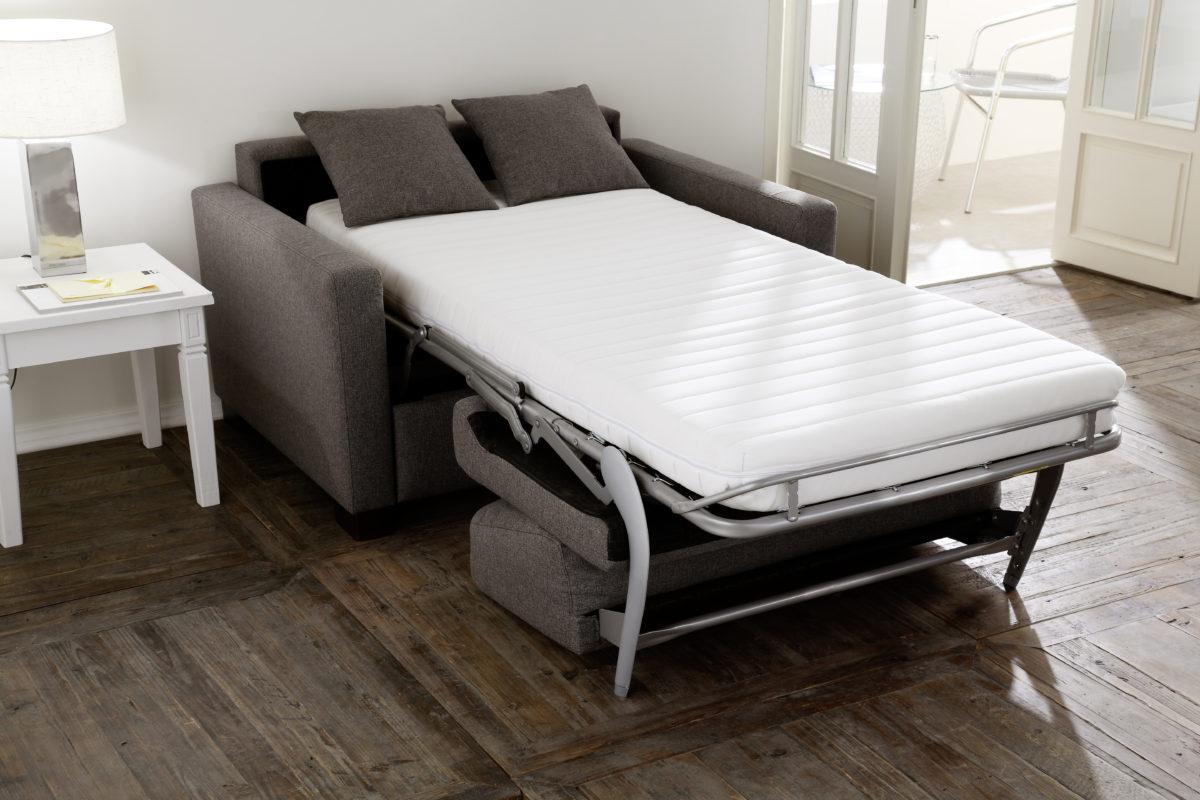 all round 1 Sitzer Bett ausgeklappt 1200x800 - Canapea extensibilă All-round 3C Candy Polstermoebel