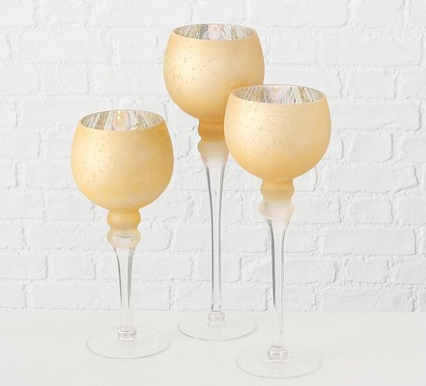 cbm. - Suport pentru lumânări MANOU champagne (1015751)