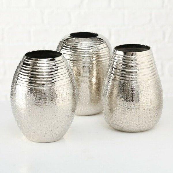 dekovase vase silber metall blumenvase deko tischdeko tischvase metallvase 600x600 - Statuetă decorativă DEER (1017803)