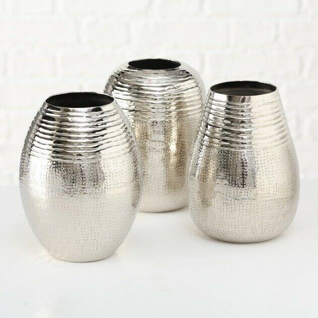 dekovase vase silber metall blumenvase deko tischdeko tischvase metallvase - Vază FORTUNA (1017756)