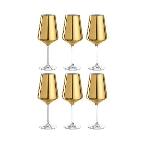 e821aaae073543e86546be84725932d9 gold wine glasses dining room - Pahar pentru vin d'Oro gold (L043284)