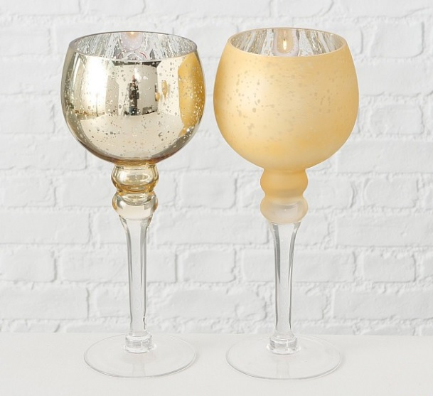 hjhl - Suport pentru lumânări MANOU champagne (1015751)
