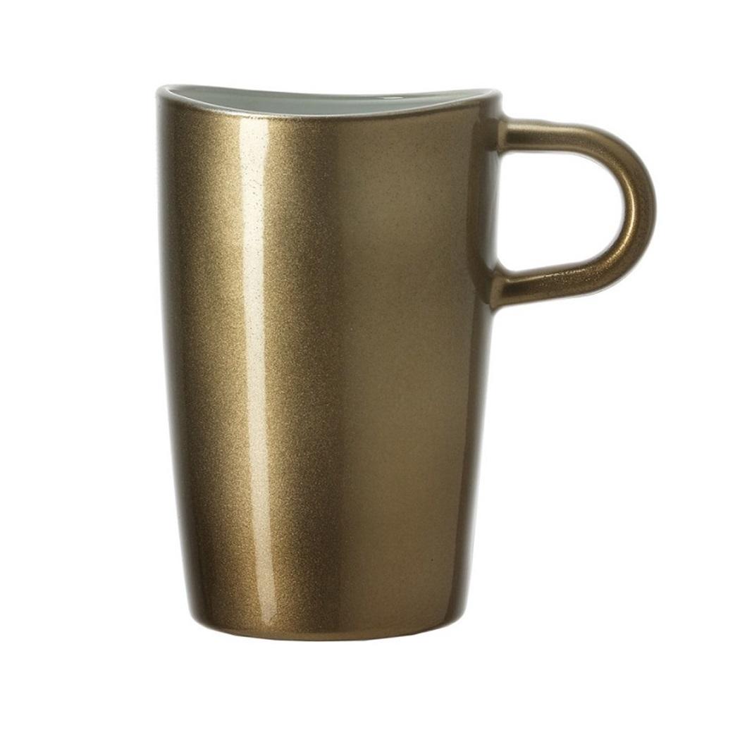 kubek z uchwytem do latte macchiato loop leonardo brazowy 012932 - Cana Macchiato Maroone Loop (L012932)