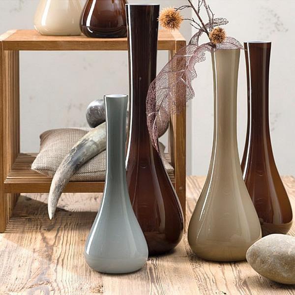 leonardo vase sacchetta 60 cm grau 70866 2 600x600 - Vază decorativă Giardino maroone optic 39 cm (L034938)