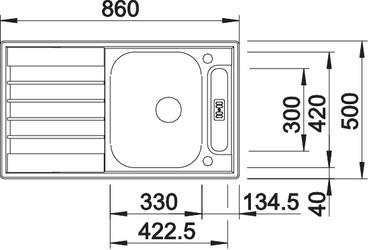 liv45ss4 - BLANCO Chiuveta LIVIT 45 S Centric (514790)