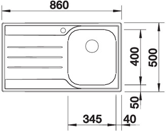 me45s s4 - BLANCO Chiuveta Median 45 S 18/10 (512660/512661)