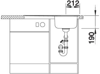 me45s sf - BLANCO Chiuveta Median 45 S 18/10 (512660/512661)