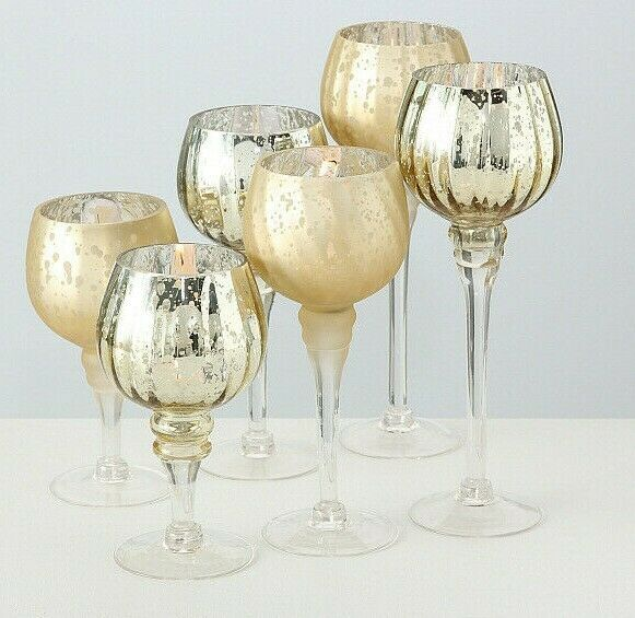 s l1000 - Suport pentru lumânări MANOU champagne (1015751)