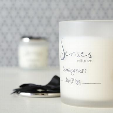 "senses lemongrass b 2 - Lumânare aromatică BOLTZE Senses ""Lemongrass"" (1009121)"