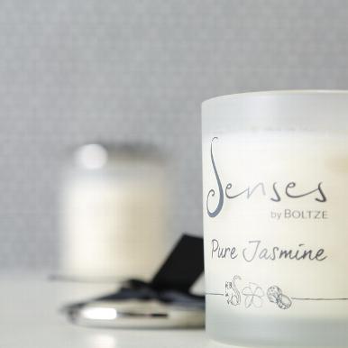 "senses pure jasmine b - Lumânare aromatică BOLTZE Senses ""Jasmine"" (1009111)"