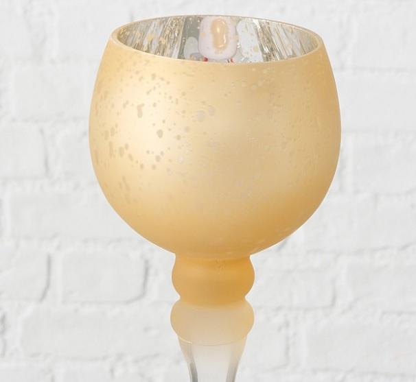 yjtktu - Suport pentru lumânări MANOU champagne (1015751)