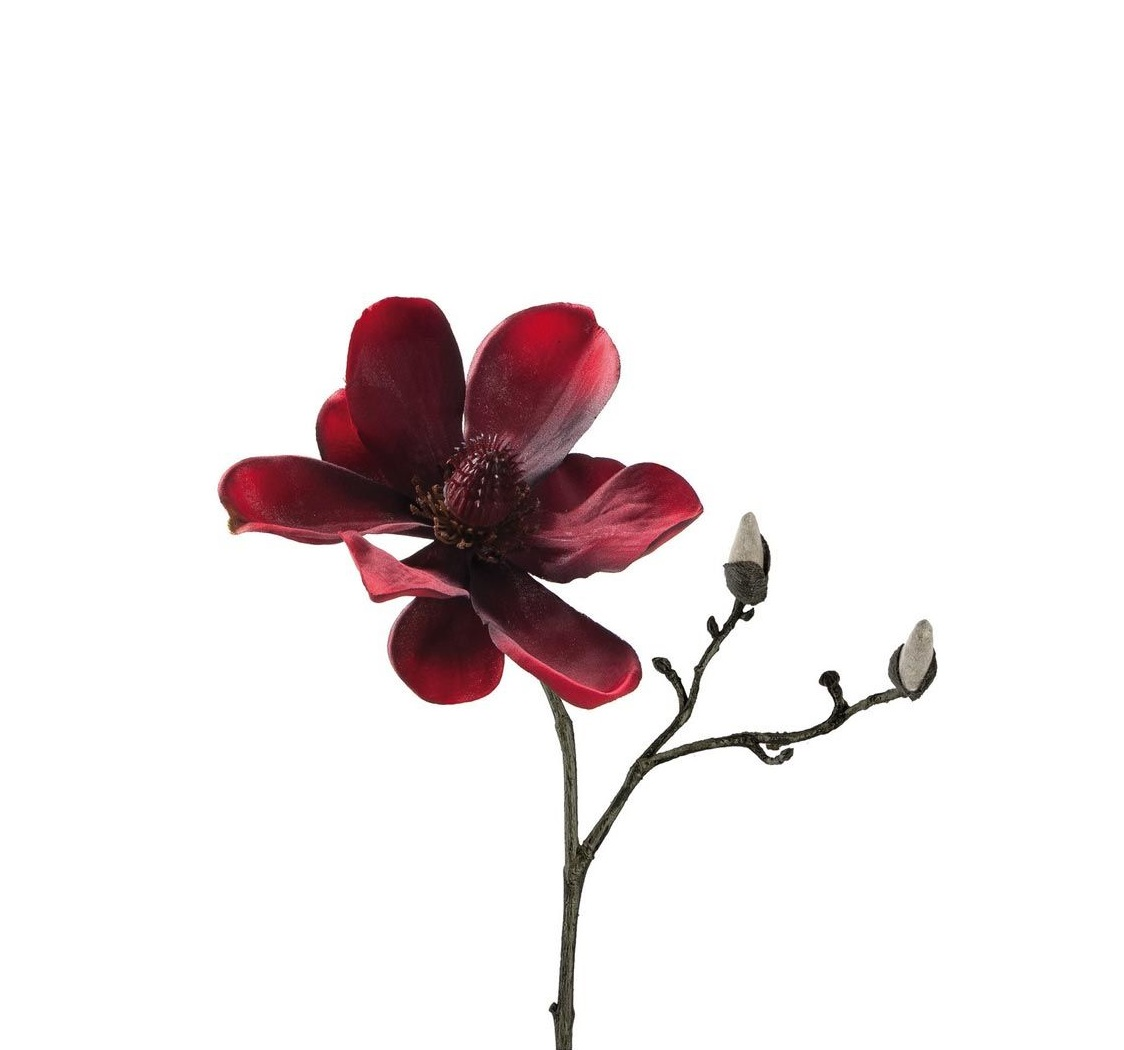 029480 0 k - Floare decorativă Magnolia red 30 cm (L029480)