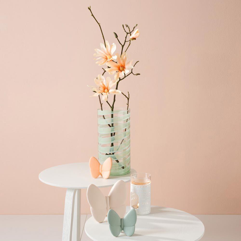 031599 4 k - Floare decorativă Magnolia apricot fine 80 cm (L031599)