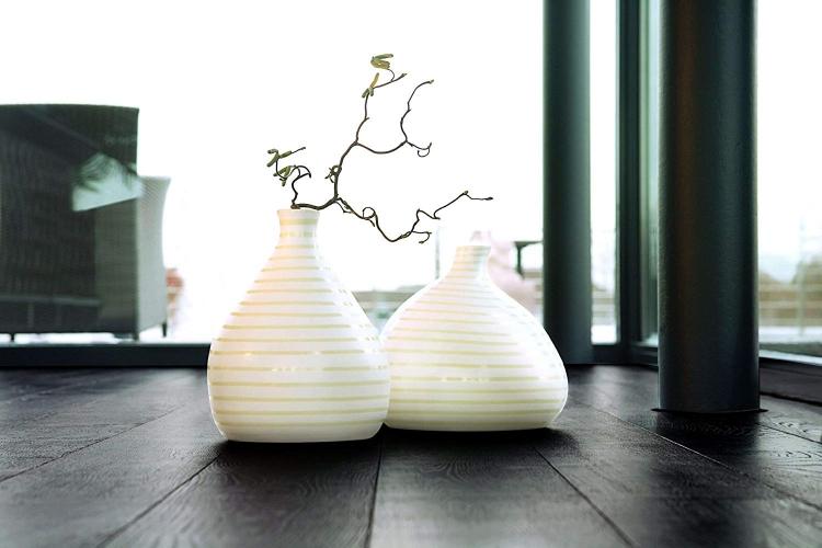 25271968171000480 - Vaza decorativă Cuba Crema 34 cm (1011356)