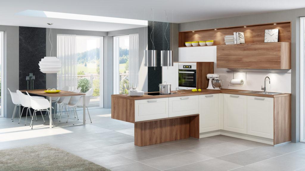 329eec71117a687975acfb4ca7852d6d 1024x576 - Белая кухня – 7 идей дизайна и практические советы.