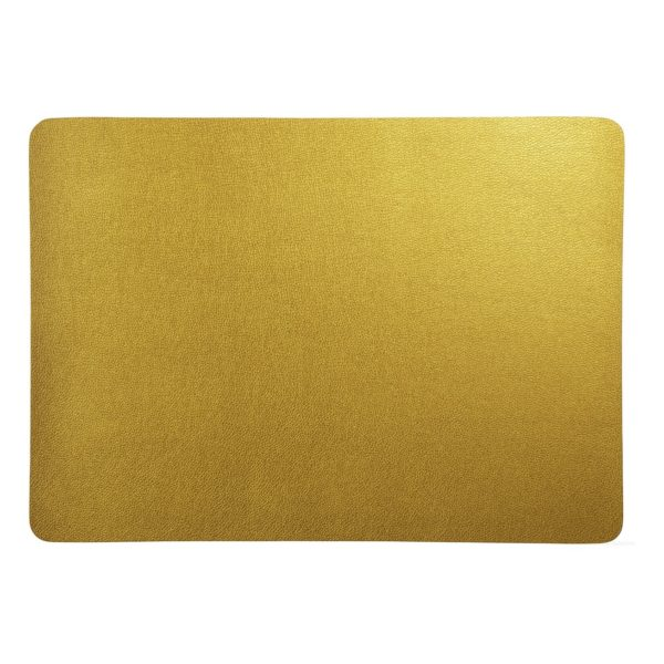 7812420 gold 600x600 - Placemat Leather optic metallic gold 46*33 cm (7812420)