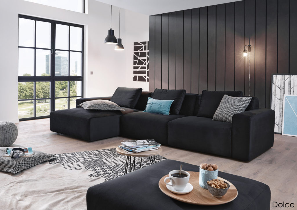 Dolce LALgroß 15oA 15AR Velvet black 1024x724 - Велюровые диваны и спальни, их плюсы и минусы.