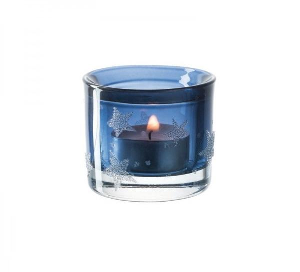 Leonardo 023670 Tischlicht 6cm blau Stellato Teelicht Tischdeko 600x600 - Suport pentru lumânare Stellato blue 6 cm (L023670)