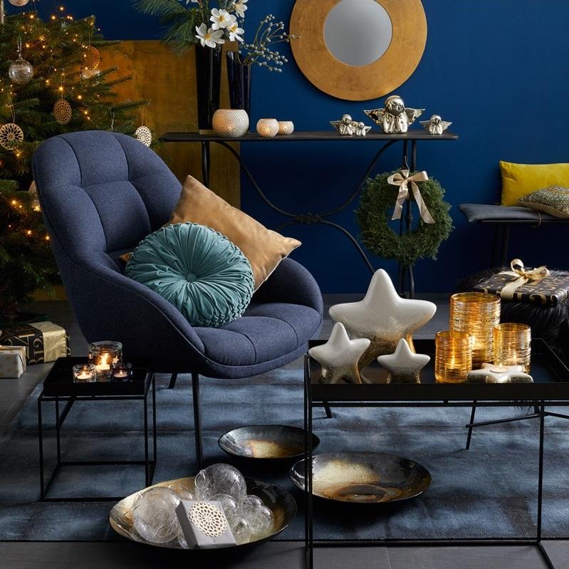 Leonardo 023670 Tischlicht 6cm blau Stellato Teelicht - Suport pentru lumânare Stellato blue 6 cm (L023670)