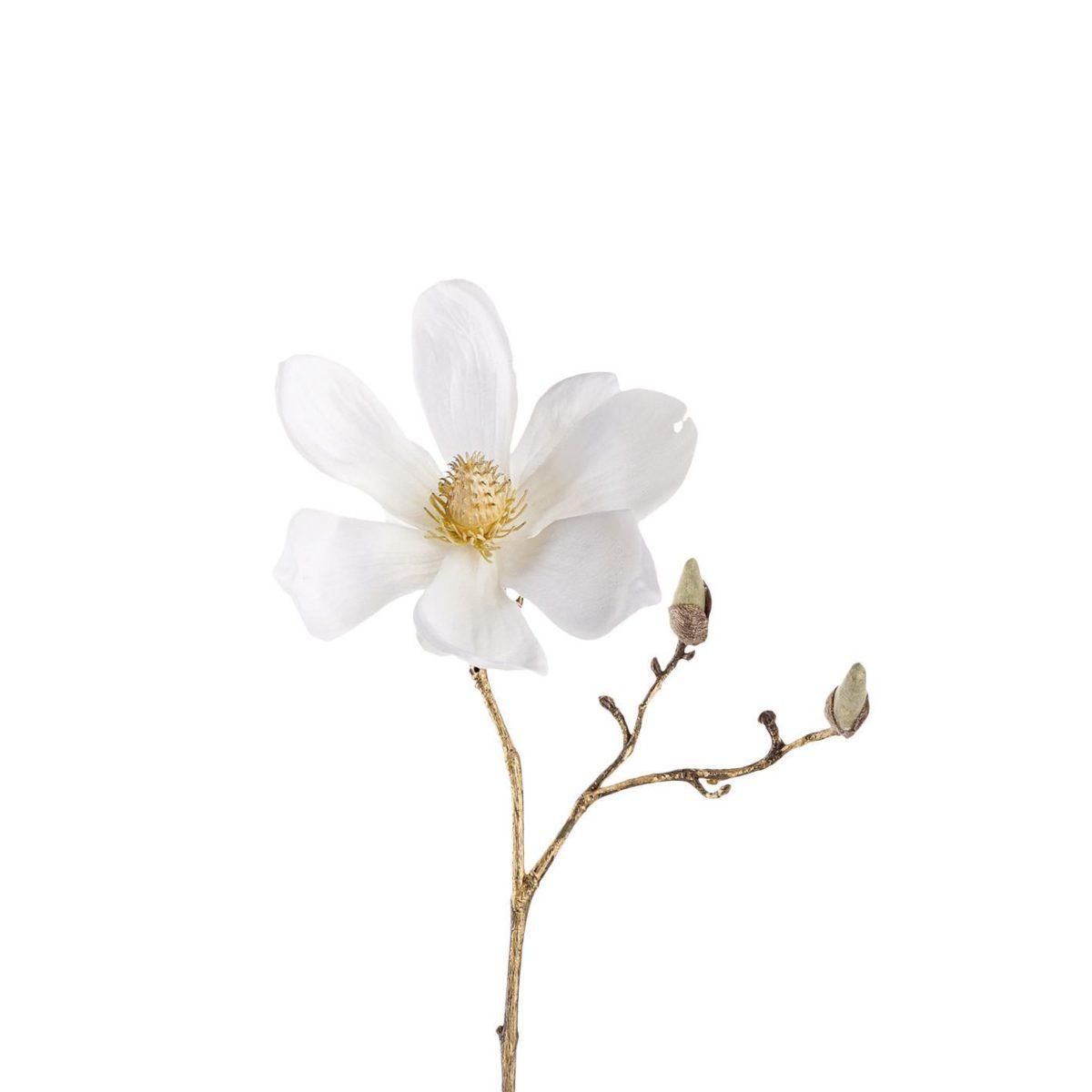 Leonardo Magnolie 30 weissgold Stellato H 002.xxl3  1200x1200 - Floare decorativă Magnolia white/gold 30 cm (L029380)