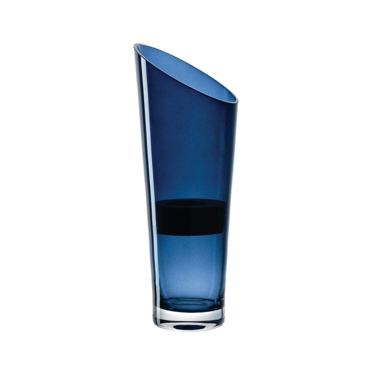 Leonardo Vase 30 blau mit Holzeinsatz H 002.xxl3  1200x1187 - Vaza cu suport din lemn pentru lumânare 30 cm (L057746)