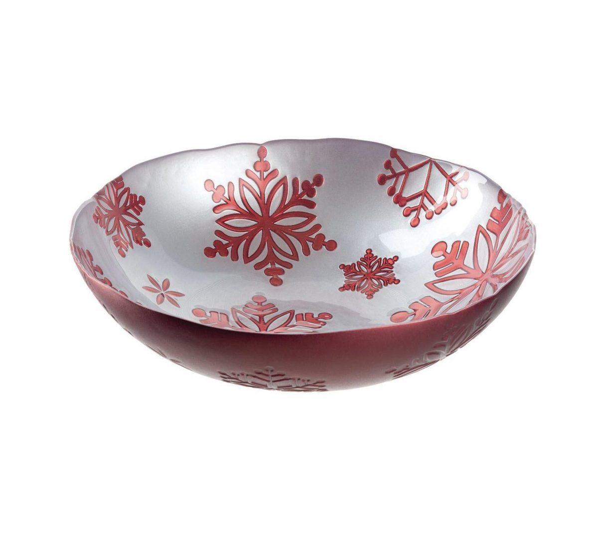 Leonardo Weihnachtsgeschirr Schale Rosso H 003.xxl3  1200x1086 - Bol Rosso silver 31 cm (L057722)