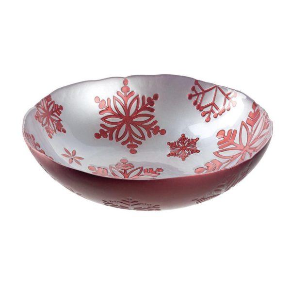 Leonardo Weihnachtsgeschirr Schale Rosso H 003.xxl3  600x600 - Bol Rosso silver 31 cm (L057722)