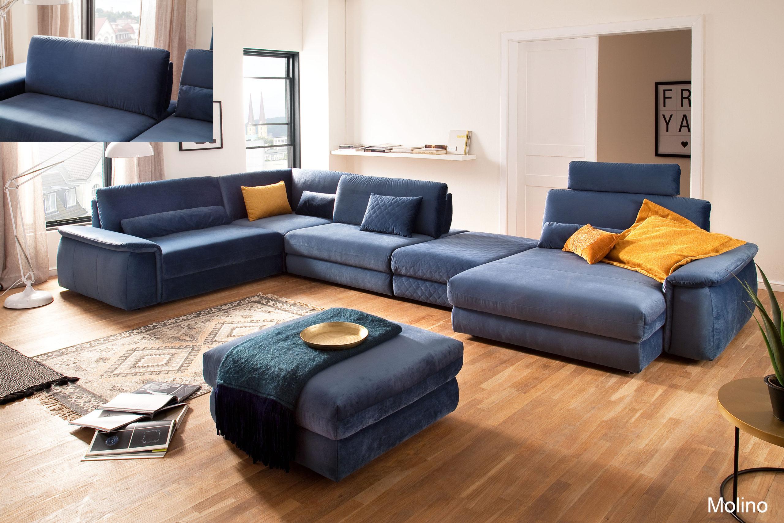 Molino 1 5AL SE klein 1 5oA ZHGeo blue grey LAR Velvet blue grey Montage scaled - Велюровые диваны и спальни, их плюсы и минусы.