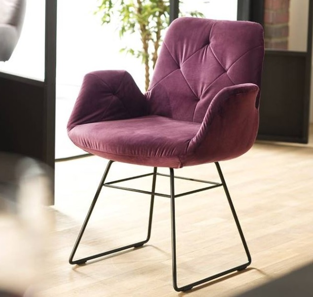candy 3c stuhl sixty esszimmer speisezimmer holz metall bequem 1 - Scaun Sixty Chair 3C Candy Polstermoebel