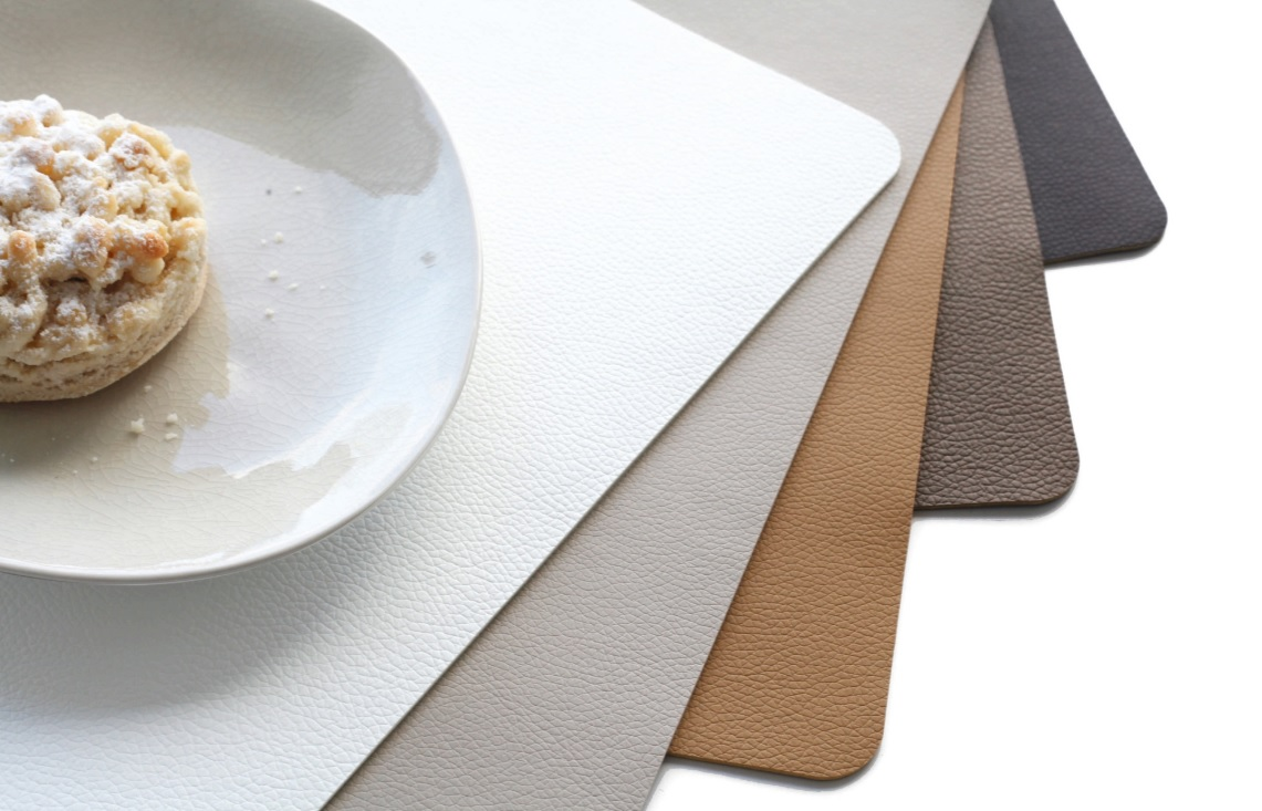 fghjikolp - Placemat Leather optic fine chocolate 46*33 cm (7804420)