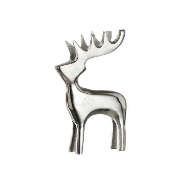fhjgk 600x600 - Statueta decorativă Deer Rosso silver 13 cm (L031895)