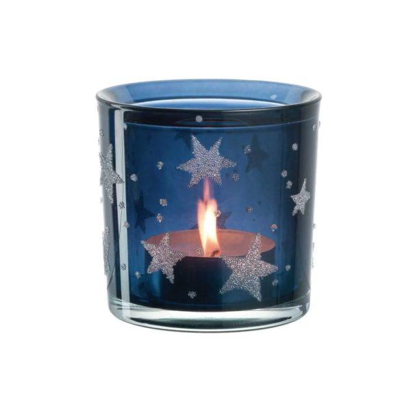 fhnjghj 600x600 - Suport pentru lumânare Stellato blue 10 cm (L023672)