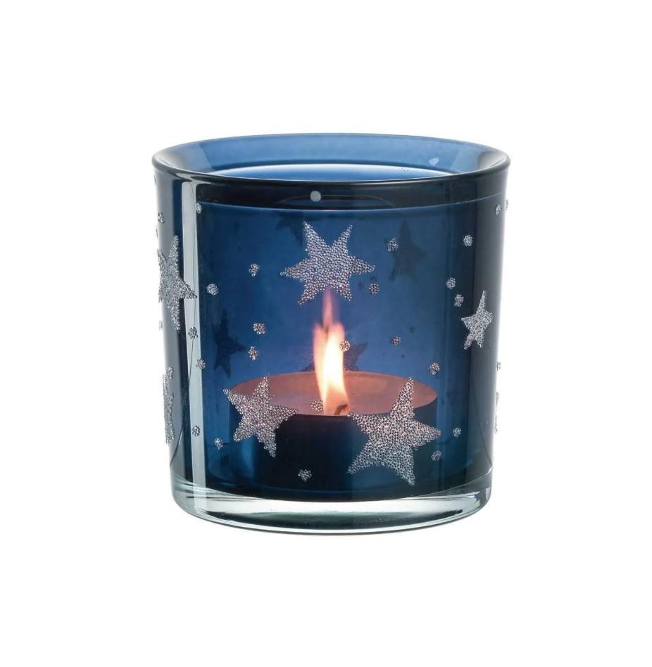 fhnjghj - Suport pentru lumânare Stellato blue 10 cm (L023672)