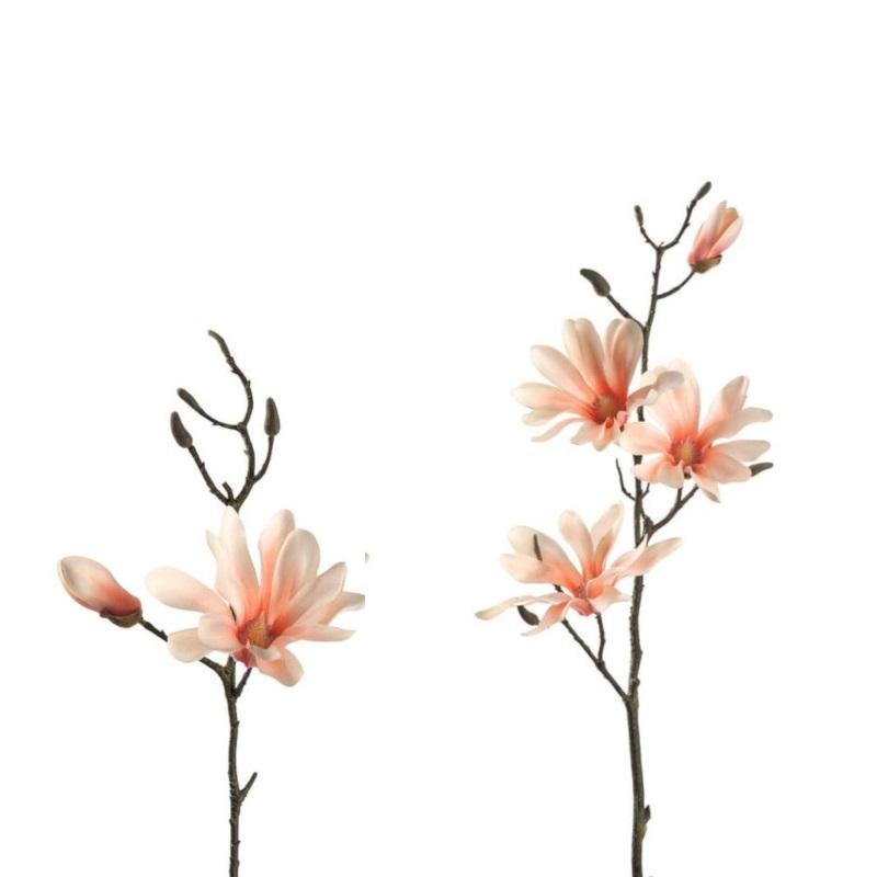 leonardo 031598 031599 magnolie 42cm 80cm apricot fine zweig dekoblume image3 - Floare decorativă Magnolia apricot fine 42 cm (L031598)