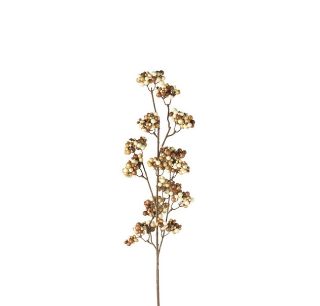 leonardo beerenzweig etno 68 cm braunweiss - Сrenguță decorativă Berry twig brown/white 68 cm (L028356)