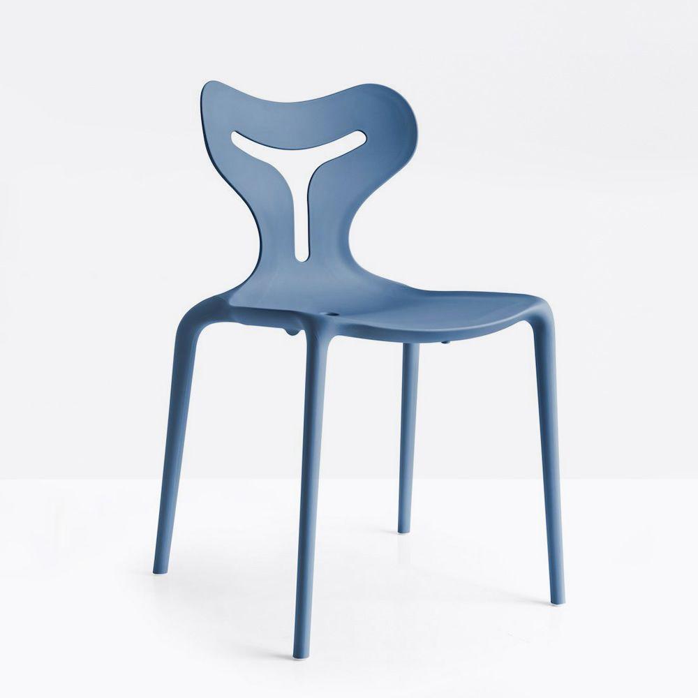 cb1042 area51 stackable chair made of polypropylene sky blue colour - Scaun Area51 CONNUBIA (CB/1042)