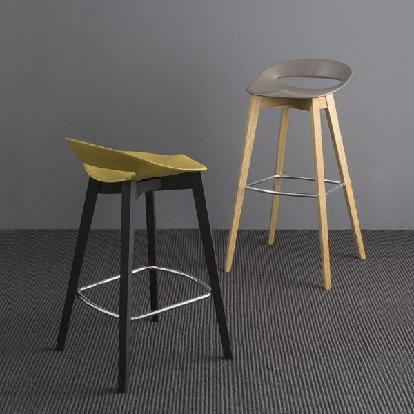 cb1939 cosmopolitan beech wooden stools with polypropylene seat 600x600 - Scaun Denmark CONNUBIA (CB/1243)