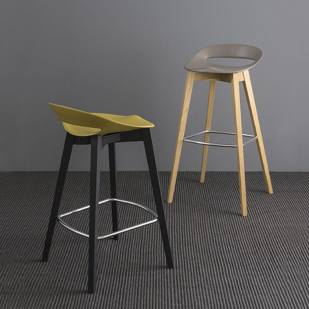 cb1939 cosmopolitan beech wooden stools with polypropylene seat - Scaun pentru bar Cosmopolitan CONNUBIA
