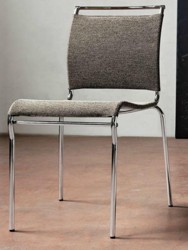 cb93 air stackable chromed metal chair with net nancy sahara seat - Scaun Air CONNUBIA (CB/93)