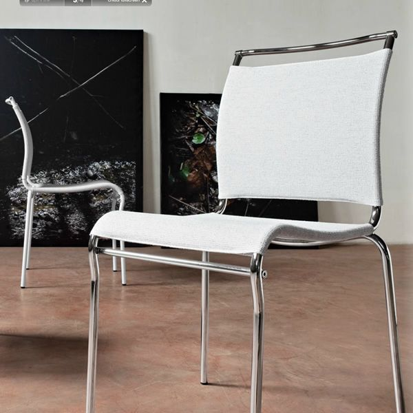cb93 air stackable metal chair with white nancy net seat - Scaun Air CONNUBIA (CB/93)
