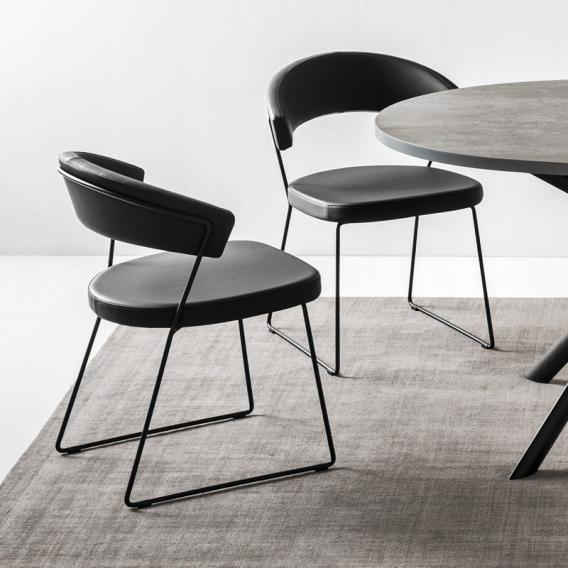 connubia new york chair with runners w 570 h 755 d 520 mm matt black black conn 1022 p15 g8n 0 - Scaun New York CONNUBIA (CB/1022)