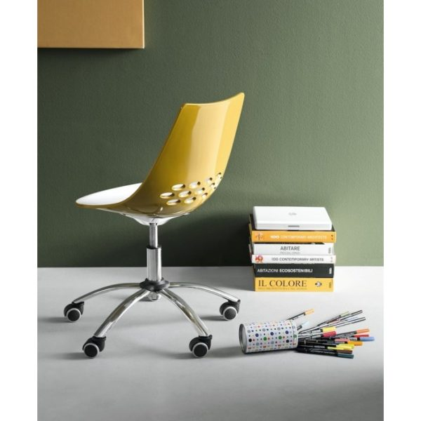 jam swivel chair by connubia calligaris online sales cb623 p13p back 600x600 - Scaun pentru oficiu Jam (CB/623)