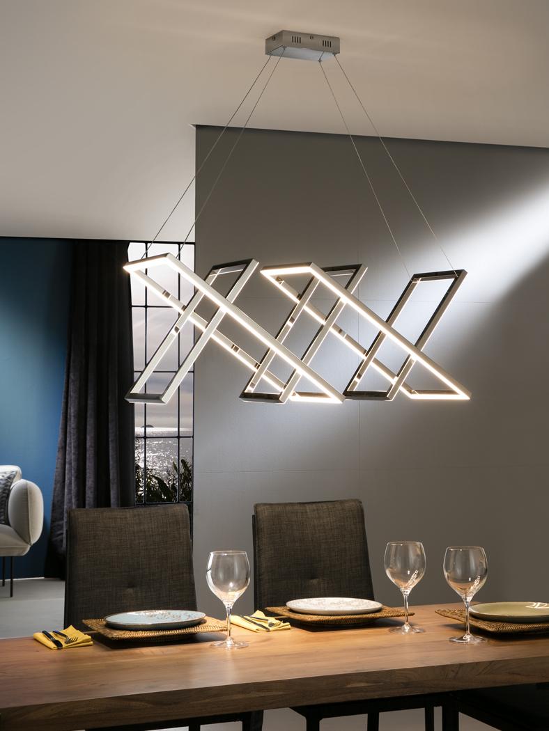 753321 lampara diseño led limus schuller cromo electricidad aranda lamparas almeria  - Lustră Limus SCHULLER (753321)