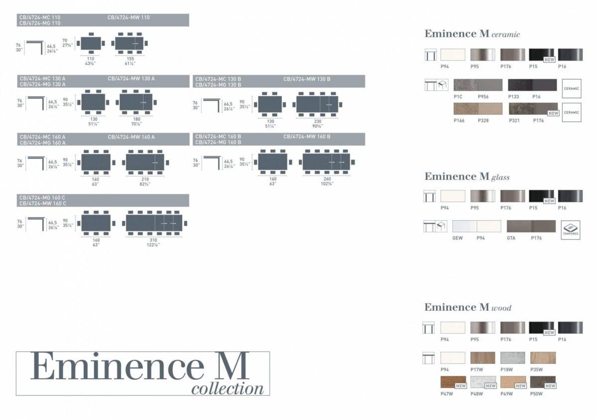 Eminence M 1200x845 - Masă Eminence M CONNUBIA (CB/4724)