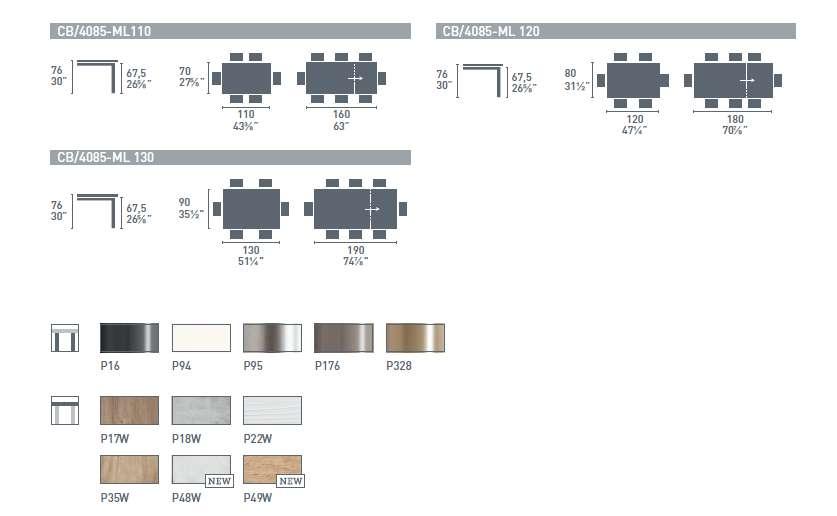 connubia snap extendible console table 4 - Masă Snap CONNUBIA (CB/4085)