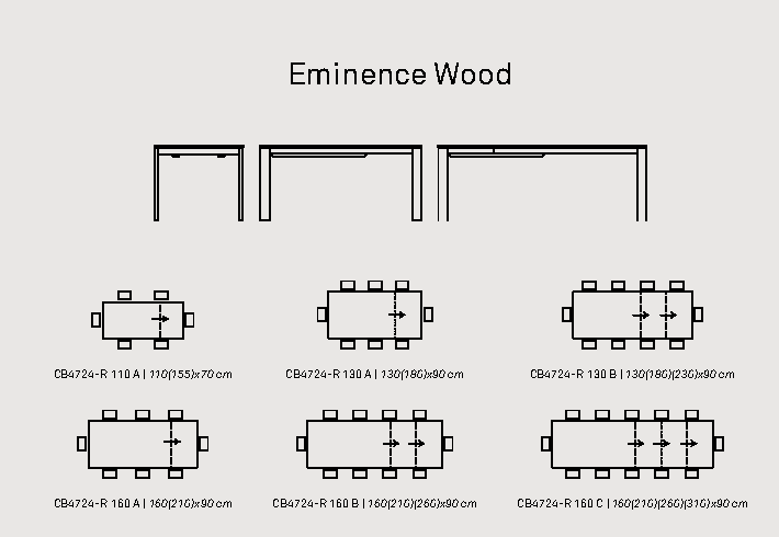 eminence wood - Masă Eminence (Connubia)
