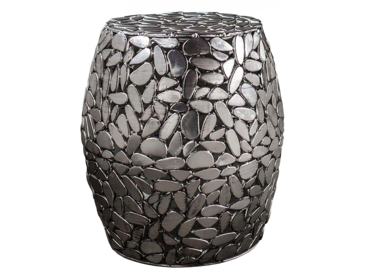 stolik kawowy jackstone 40 cm srebrny - Masă de cafea ZIJLSTRA (3367/31A)