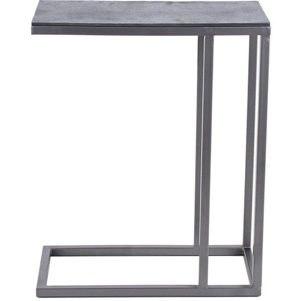 stolik zand 50x25 cm srebrny 600x600 - Masă pentru laptop ZIJLSTRA (3480/31Z)