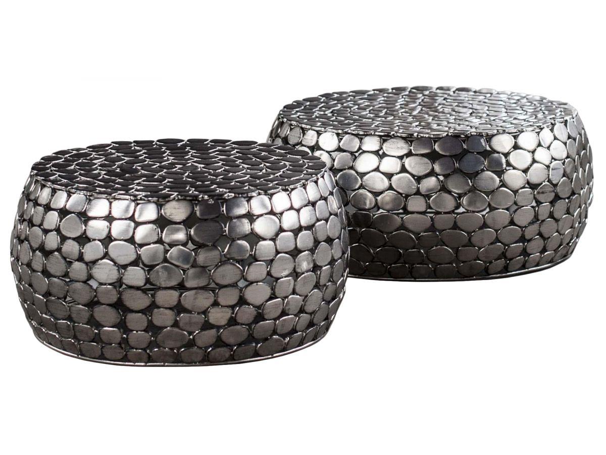 stoliki kawowe malone 2set srebrne 2 - Masă de cafea ZIJLSTRA (3368/31A)