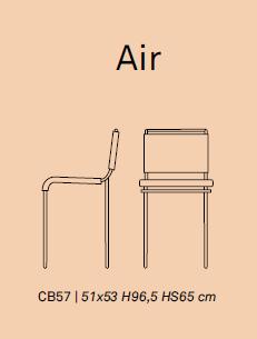 air 1 - Scaun pentru bar Air CONNUBIA